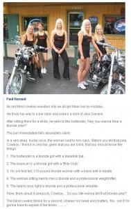 biker blonde joke